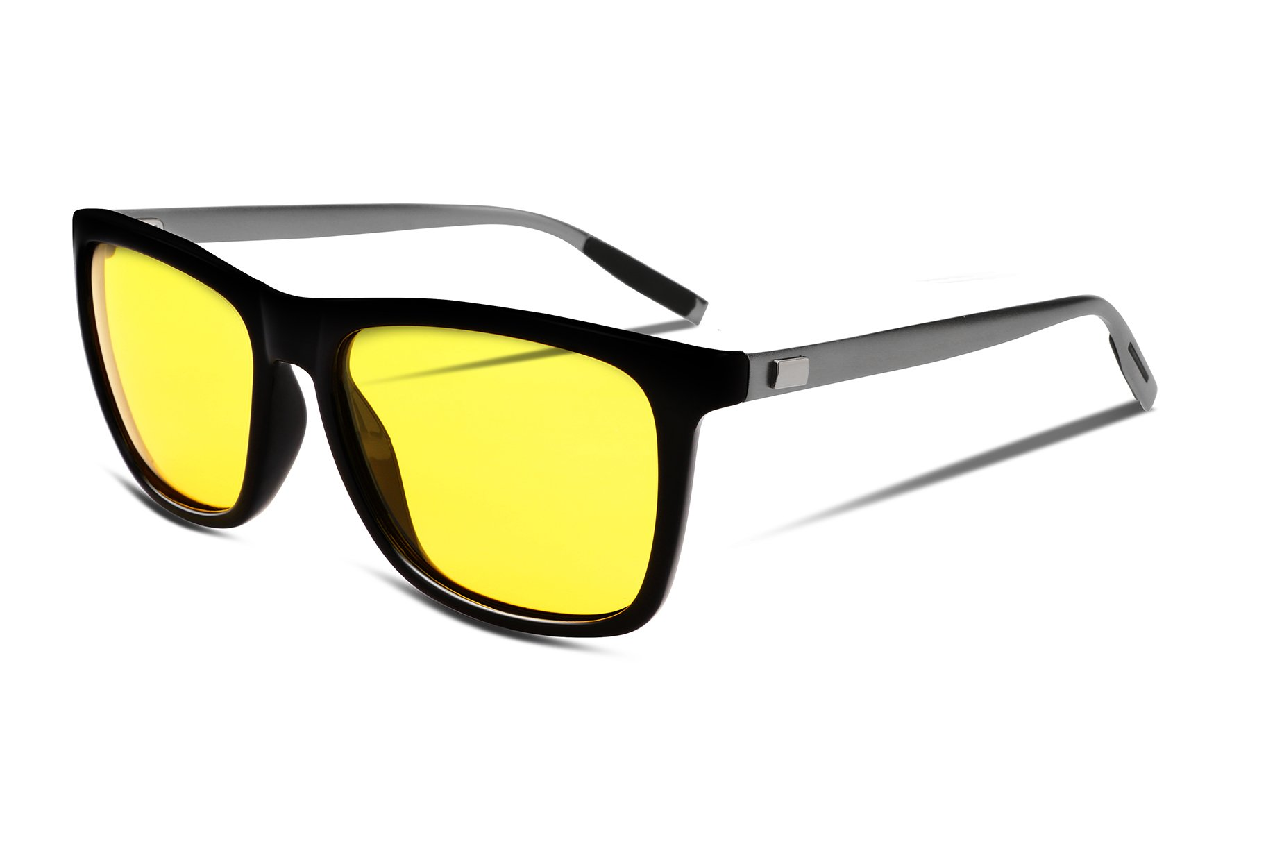 FEISEDY Night Vision HD Driving Glasses Mens Polarized Anti-Glare Eyewear B2293
