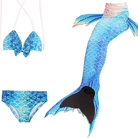 Wishliker Coda da Sirena Bambina Bikini Costume da Bagno