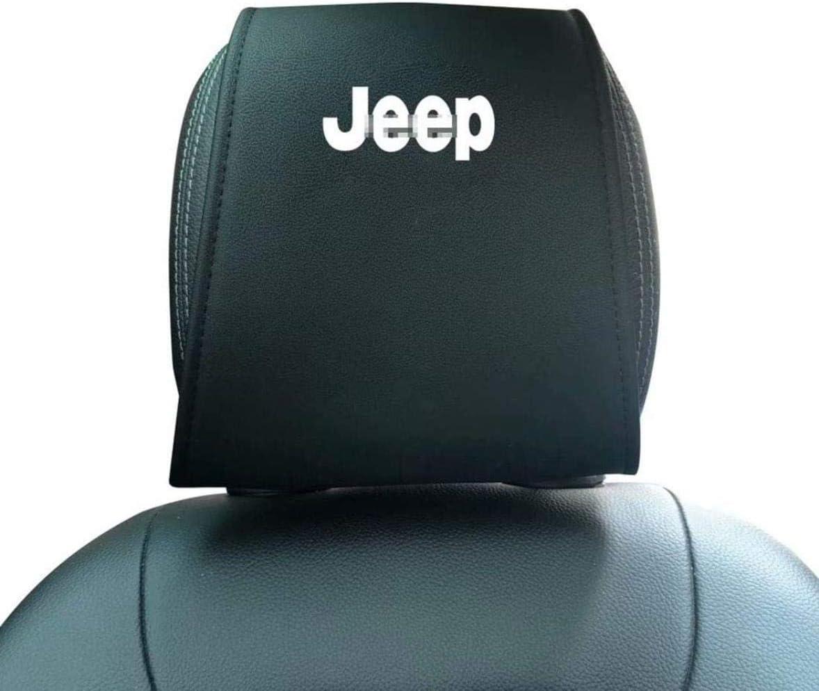 QIXI Autositz Kopfst/ützenbezug Auto Interieur Zubeh/ör,Black Pu-Leder Autokopfst/ützenbez/üge Schutzpolster F/ür Jeep