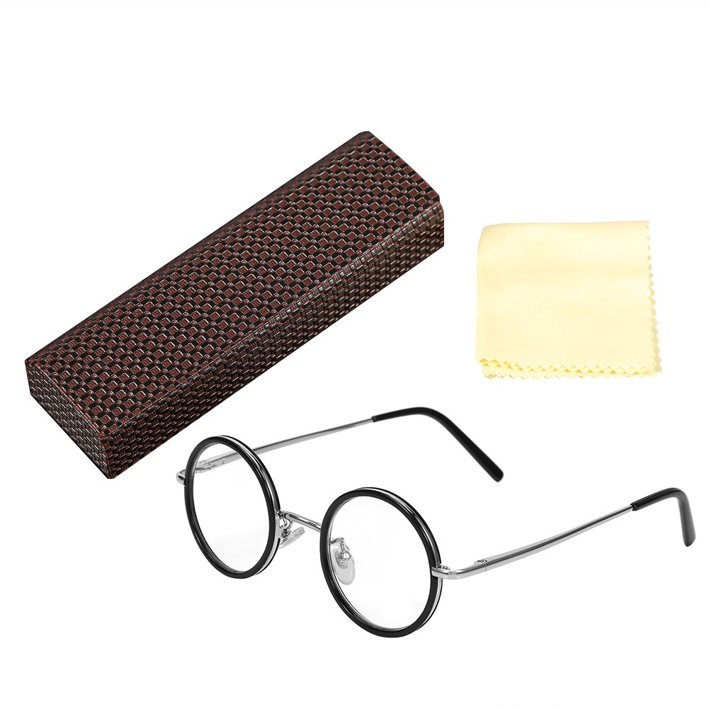Reading glasses - magnifying glass, retro reading glasses - round, fatigue, lightening, clear vision(+ 3.5)