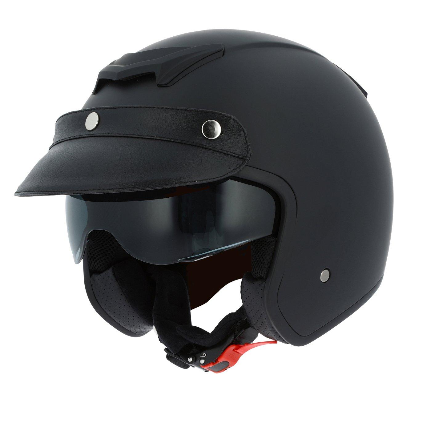 Astone Helmets Casque Moto Jet Sportster, Noir Matt, Taille XL Rider Valley SPORT2M-MBKXL