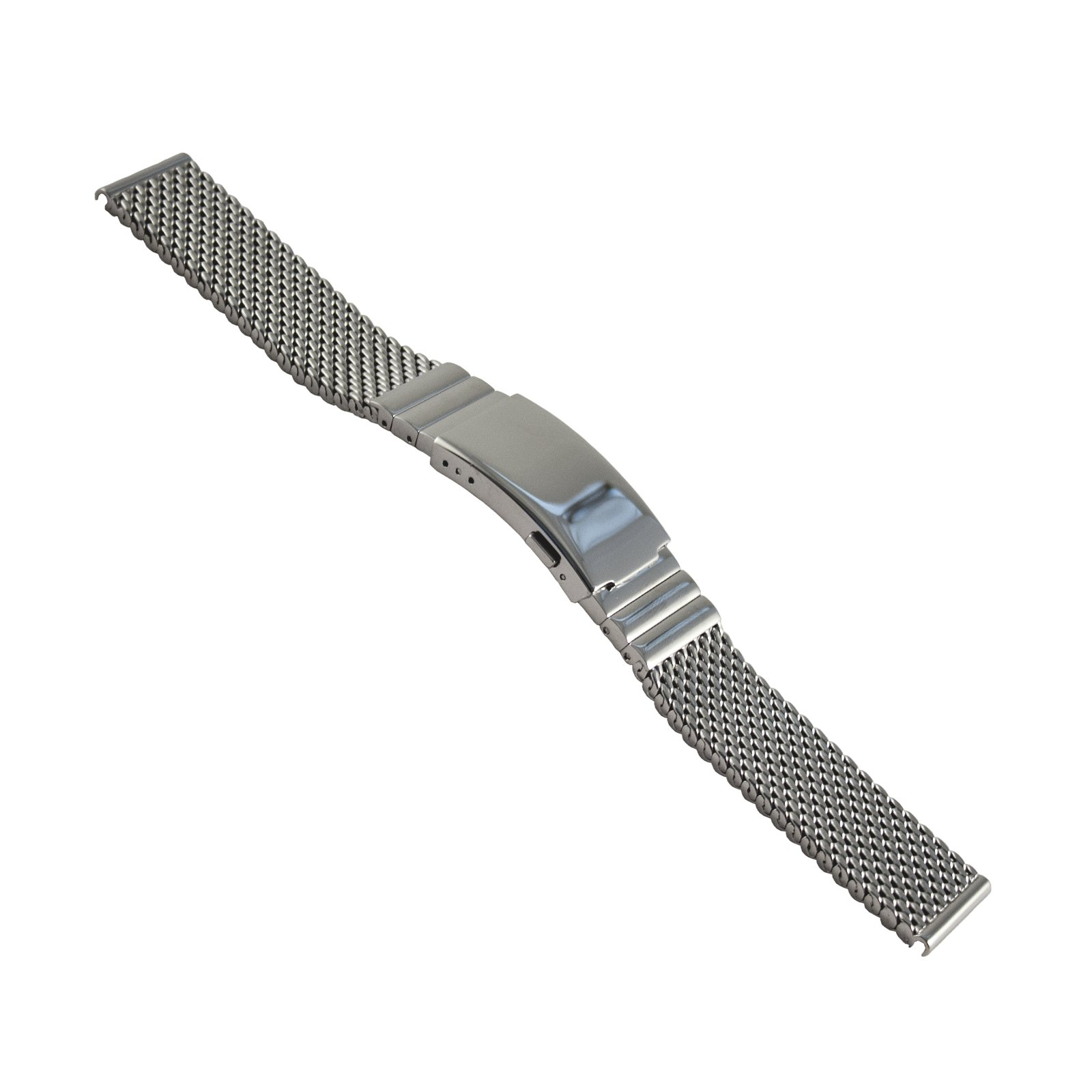 Staib milanaise/mesh Watch Strap Deluxe, Diver Buckle, Width 20 mm, Length 150 mm, 2792-2