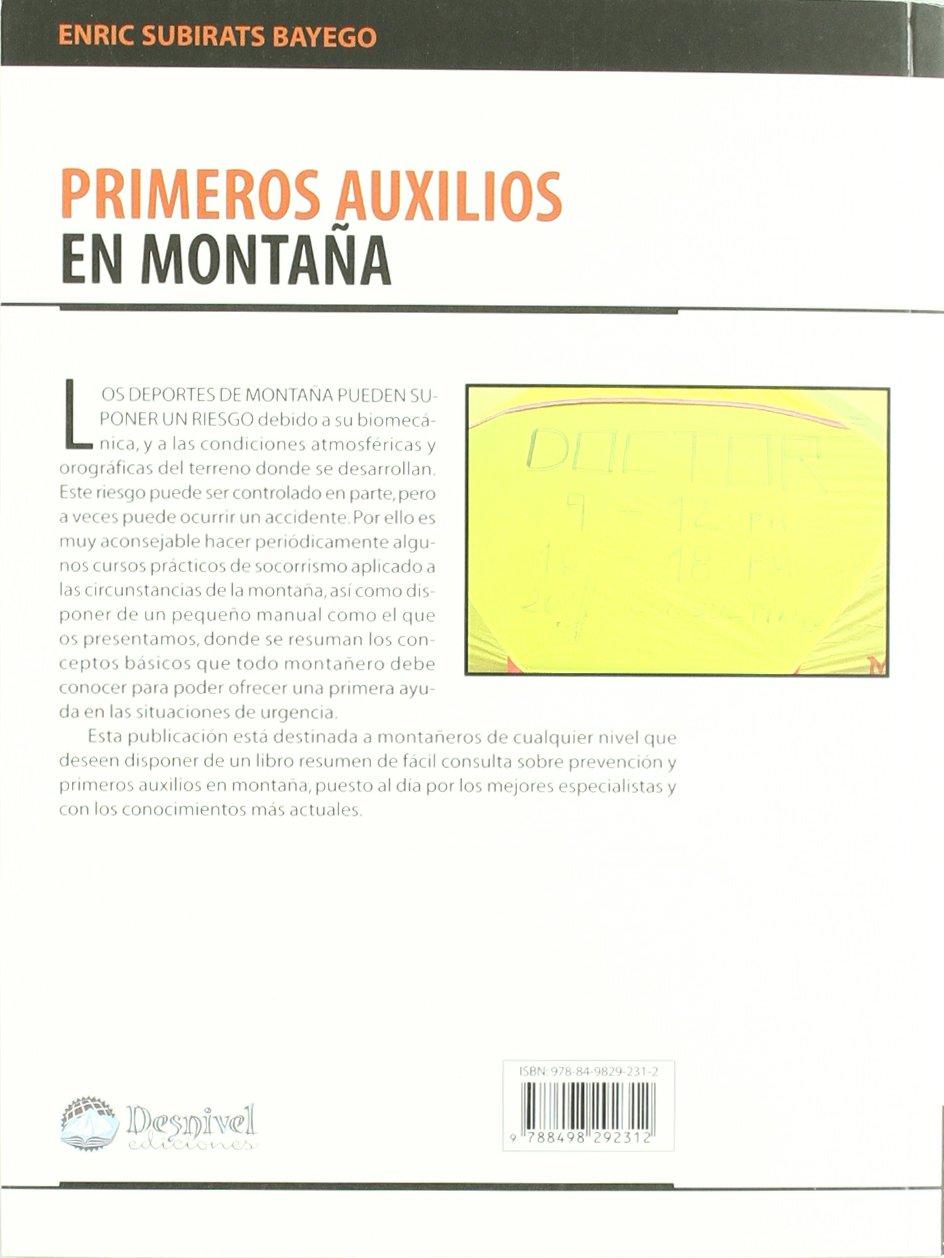 Primeros auxilios en montaña (Manuales Desnivel): Amazon.es ...