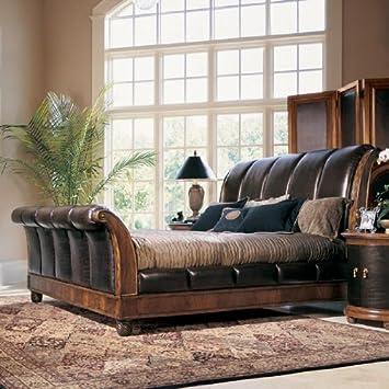 Amazon.com: Bob Mackie Home Classics Sleigh Bed by American Drew ...