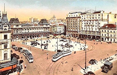 North Station Brussels Belgium, Belgique, Belgie, Belgien Postcard