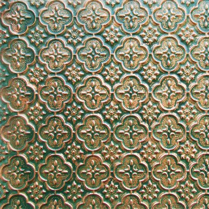 Decorative Hammered Roof Accent (Faux Tin WC-20 Patina Copper Decorative Kitchen Backsplash Faux PVC Wall Covering Fire Rated - 25ft.x2ft. Roll glue On,tape On,staple On!)