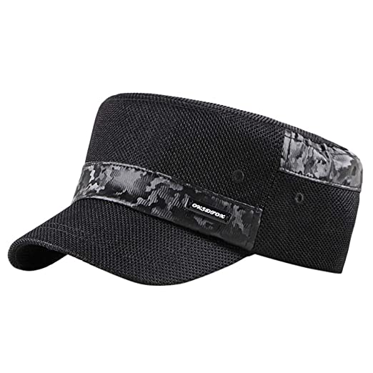 51a6fb07 Amazon.com: Bravetoshop Washed Cotton Military Caps Cadet Army Caps ...