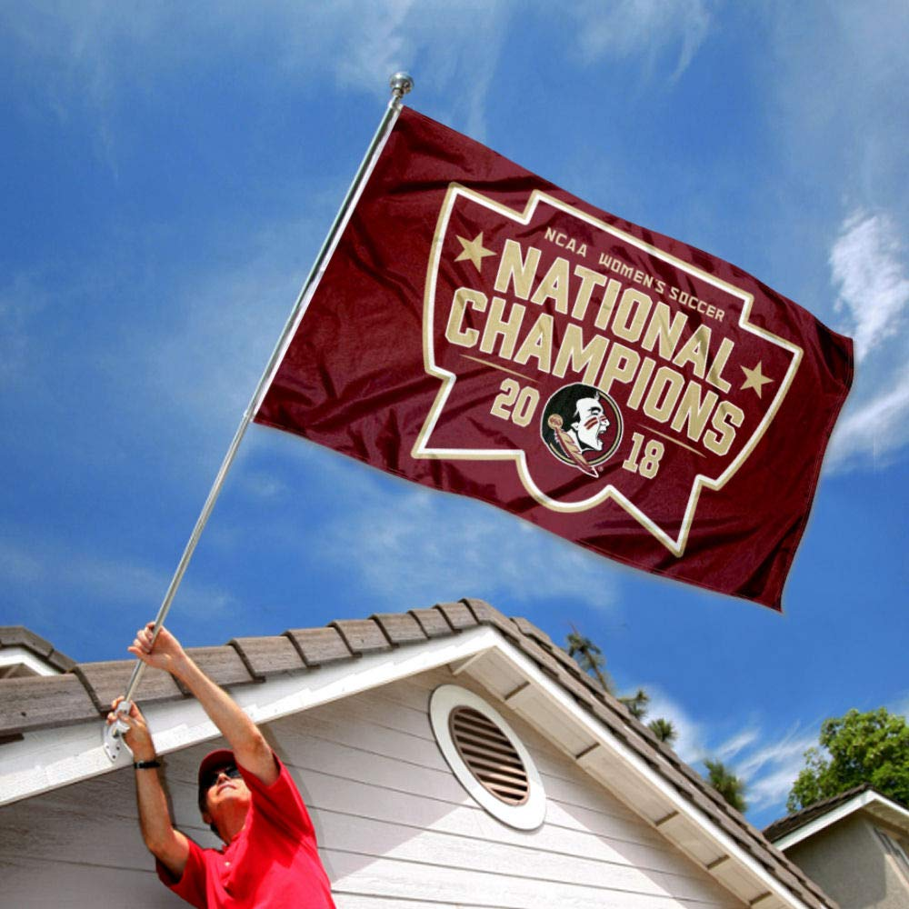 College Flags and Banners Co Florida State Seminoles 2018 Womens Soccer National Champions Flag