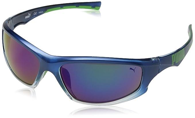 PUMA Eyewear - Lunettes de soleil - Homme - Bleu - Bleu - Taille unique   Amazon.fr  Sports et Loisirs 297f192ac33