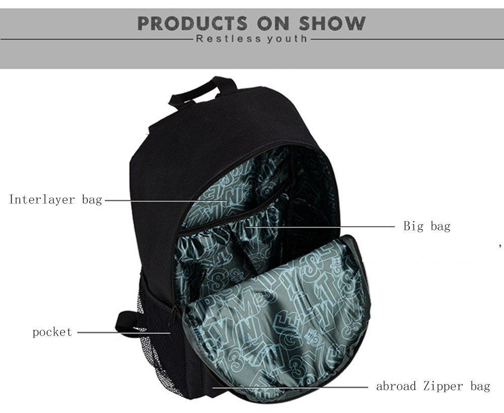 YYCB Anime Luminous Black Backpack Noctilucent School Bags Daypack USB chargeing port Laptop Bag Handbag For Girls Boys Men Women by YYCB (Image #4)