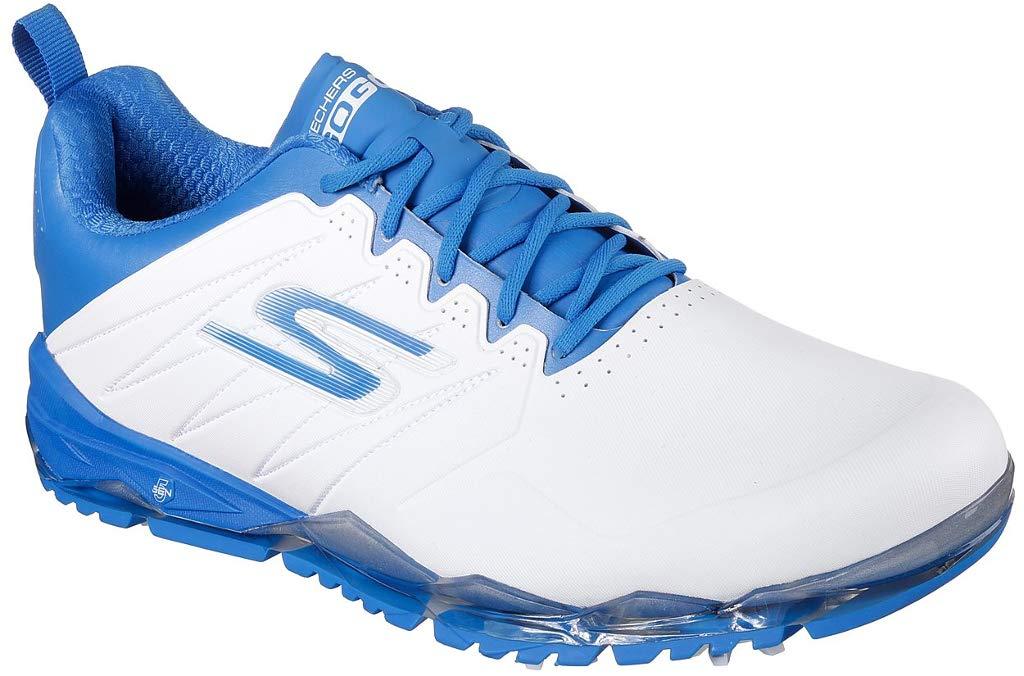 Skechers Performance Men's Go Golf Focus 2 Collegiate Golf Shoe,White/Blue,11.5 M US