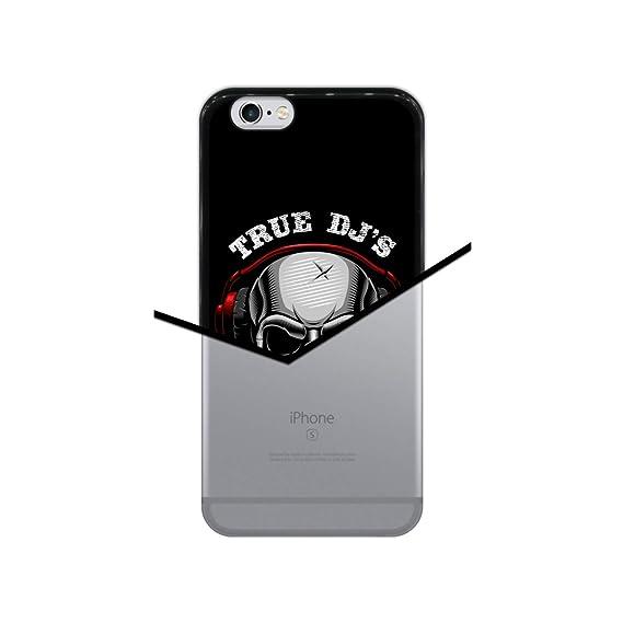 Hapdey Funda Negra para [iPhone 6 6S] diseño [Cráneo, los DJ ...