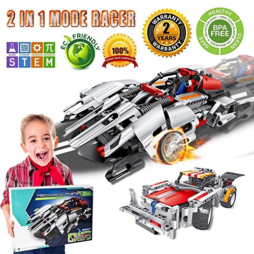 Engineering Toys STEM Learning Kits Educational Construction RC Racer Building Blocks Set For 7 8 And 9 Year Old Boys