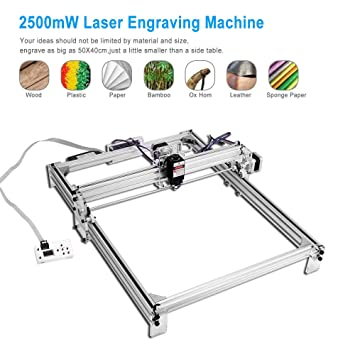 TOPQSC 2500mW 50x40cm Kit de máquina de grabado láser CNC ...