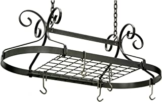 product image for Enclume Decor Oval Ceiling Rack with Grid, Hammered Steel