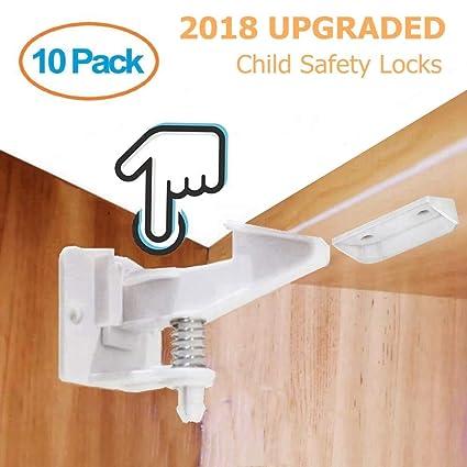 Cerraduras de Seguridad para Bebés, 10 Paquetes Diseño Invisible Bloqueo de Seguridad de Babés para