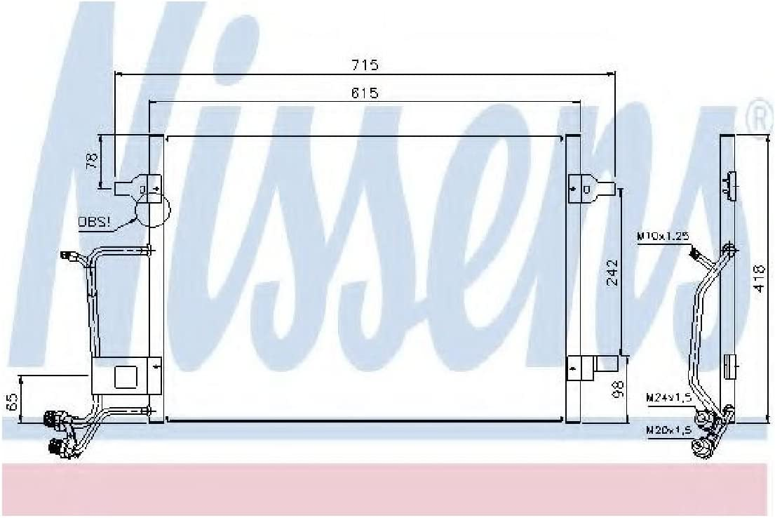 Condensador aire acondicionado-Van Wezel 03005140