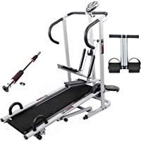 Lifeline Folding Treadmill Machine 4 in 1 for Home Use | Bundles with Tummy Trimmer and Door Way Gym Bar