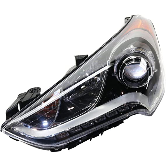 evan-fischer eva135052317408 Faro Delantero para Hyundai Veloster 12 - 16, izquierda Asamblea Proyector tipo sustituye partslink # hy2502170: Amazon.es: ...