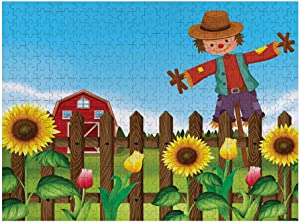 puzzels Happy Garden Flora Photo Pattern Jigsaw Puzzles Brain Games Art Deco Puzzle Wall Painting Scarecrow Multicolor