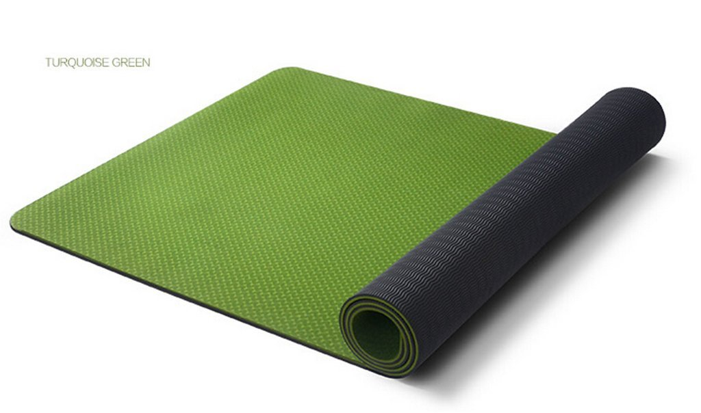 Blau JIUYITECH Yogamatte geschmacklose Anti-Rutsch-Yogamatte, Sportfitnessmatte (Farbe   Blau)