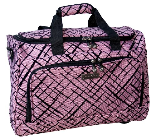 jenni-chan-brush-strokes-city-duffel-red-one-size