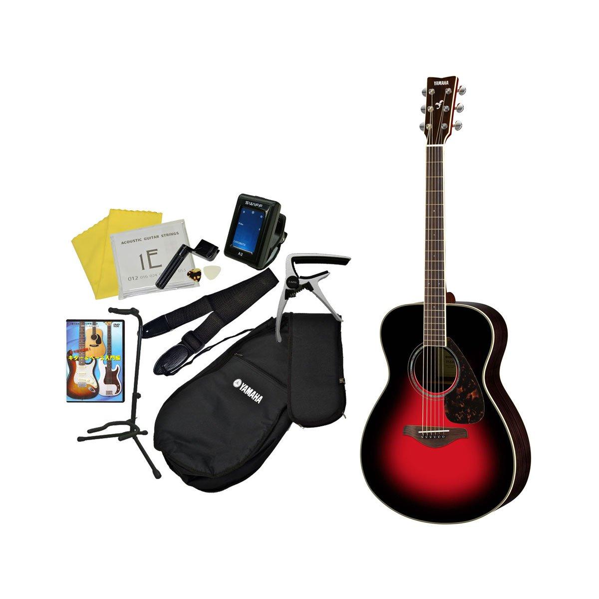 YAMAHA アコギ11点入門セット FS830 ヤマハ アコースティックギター 入門 初心者 (【3】DSR) B01I677N1M  【3】DSR
