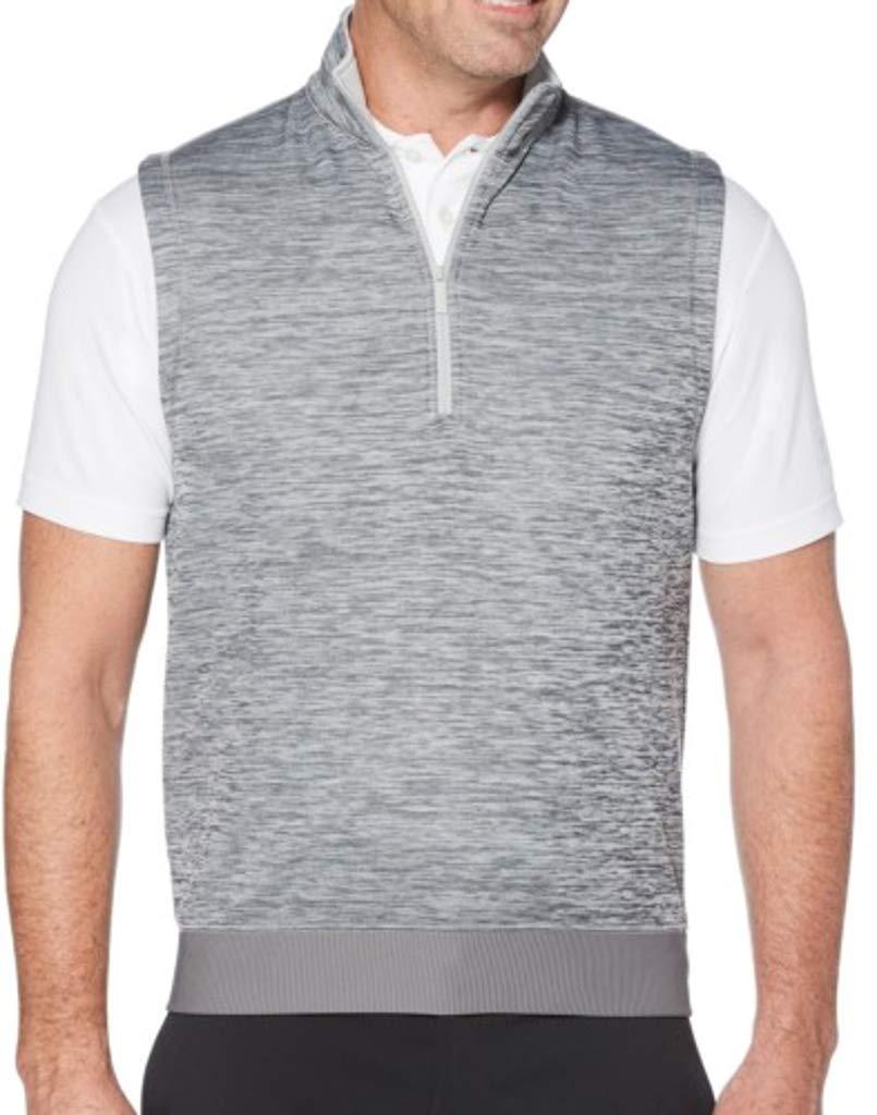 Callaway Men's Water Repellent 1/4 Zip Golf Vest, Medium Grey Heather, 2X-Large by Callaway