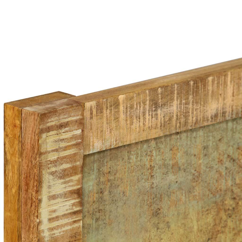 140 x 200 cm Festnight Estilo Retro Estructura de Cama de Madera de Mango Maciza Acabado Envejecido