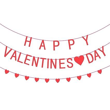 Amazon.com: katchon pancarta de feliz día de San Valentín de ...