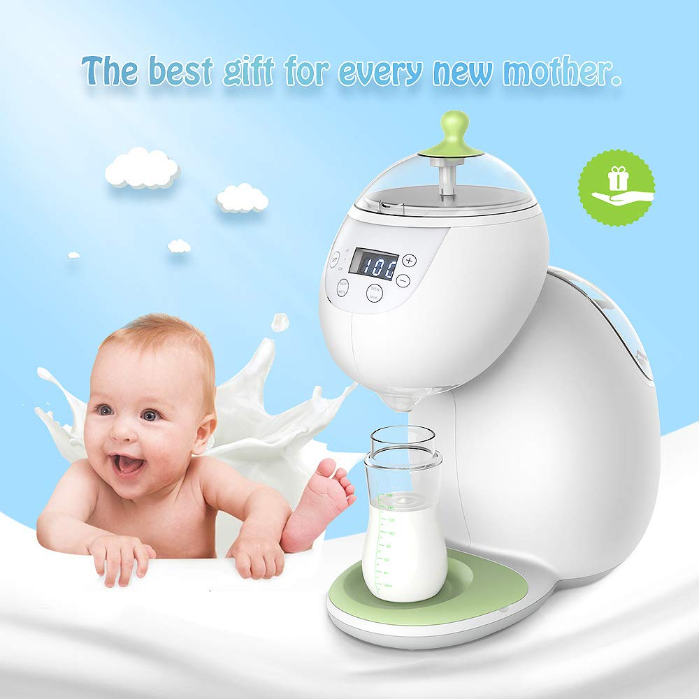 FDA Approved Cholma Baby Formula Maker Instant Heat in 8 Seconds Baby Formula Bottle Maker Dispenser and Mixer Machine Refuse to Cake Milking