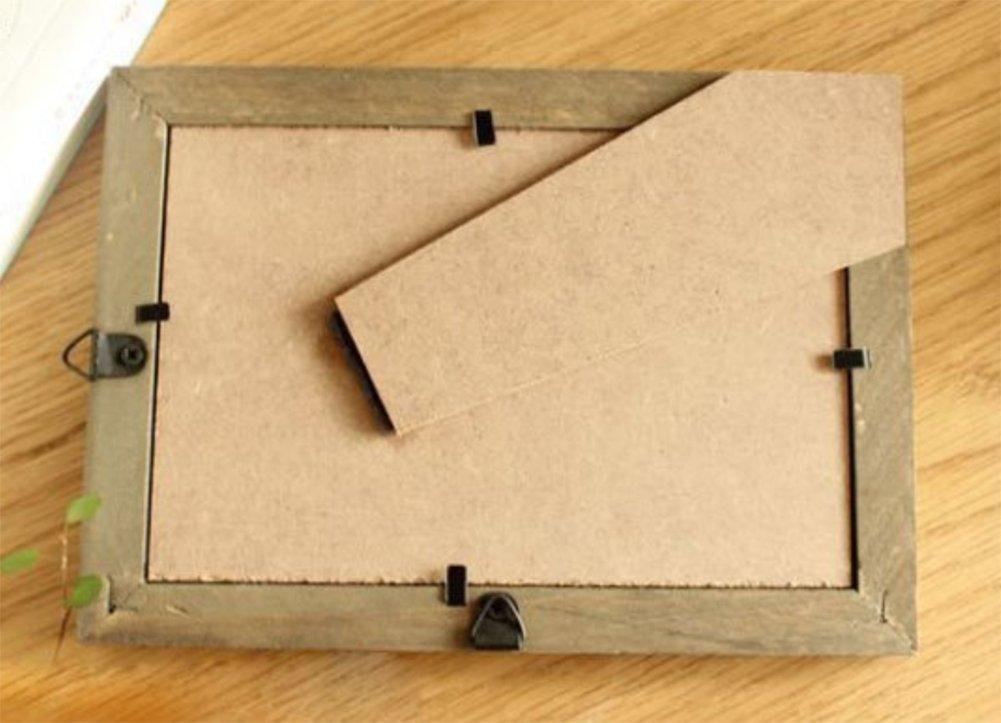 Milopon Bilderrahmen Fotorahmen Holz Vintage Foto DIY Kreativ Bilder Rahmen Bildformat Beige