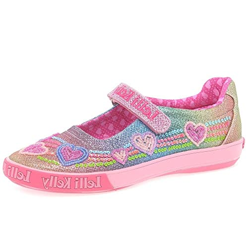 00e7a4ac49ae5 Lelli Kelly Rainbow Heart Dolly Girls Canvas Shoes 7/24 Std Unless Stated in  Colour