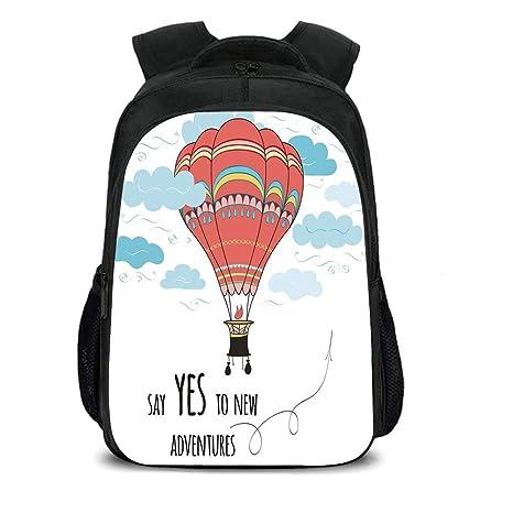 Amazoncom Iprint 157 School Backpackcartooninspirational Quote