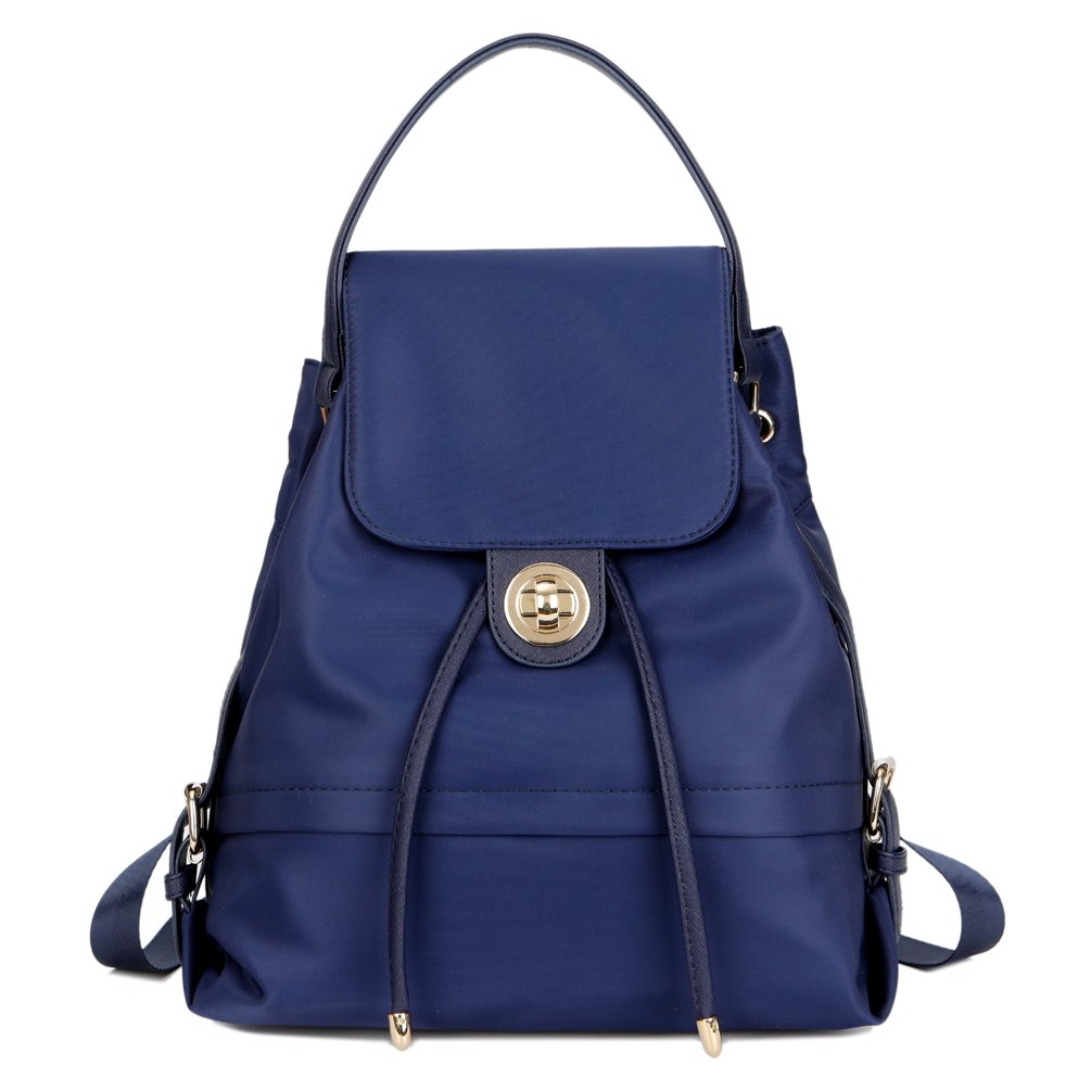 TOPSHINE Women Mini Backpack Purse Small Turnlock Tie (Navy Blue)   Amazon.com.au  Fashion 1b91842a2e90f