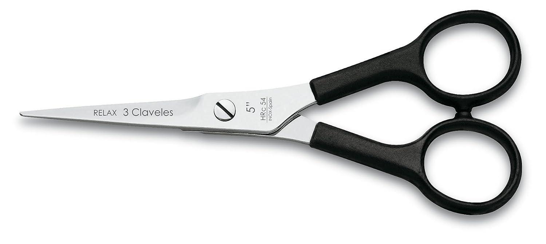 """3 Claveles Relax - Schneideschere für Friseure, 6"""", Farbe schwarz 6"""" 12615"""