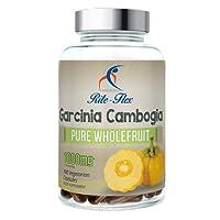 Rite Flex Garcinia Cambogia 1000mg 180 Capsule Vegetariane Extra Forte Integratore che supporta il raggiungimento del peso ideale (1000mg)