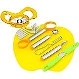 zagtag 8 in 1 Deluxe Fruit Slicer Kit, Fruit Tool Set, Salad Tool Gift Box - Carving Knife, Seed Remover, Melon Baller Scoop, Fruit Peeler, Apple Corer, Fruit Knife, Cutting Board and 5 Fruit Forks