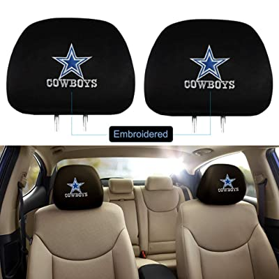 Fast & Furious for Dallas Cowboys Headrest Covers, 2 Pack Luxury Embroidered Logo Car Truck SUV Van Headrest Covers for American NFL Dallas Cowboys: Automotive