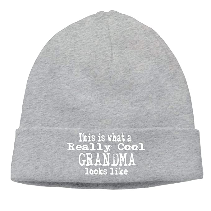 b645d931a84 Momens This is What A Really Cool Grandma Looks Like Warm Hip-Hop Black Beanies  Caps Hats  Amazon.ca  Clothing   Accessories