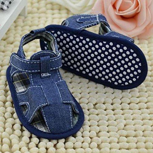 Koly primeros pasos, Zapatos de bebé, sandalias de vaquero, color azul (12CM)