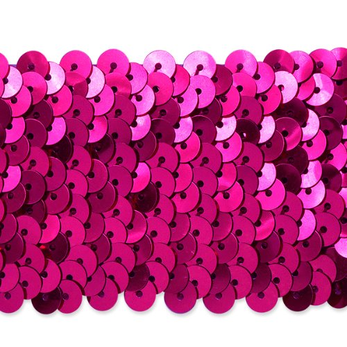 Fuchsia Metallic Sequin - 9