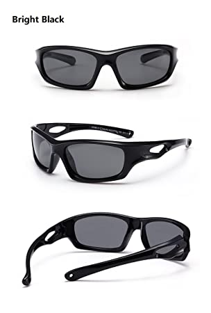 80fef24f92 Baianf Gafas de Sol para niños Sport Driving TR90 Infantil Niños Gafas de  Deporte Accesorios para Gafas Polarizadas Niños Niñas Gafas de Sol UVA Anti  (Color ...