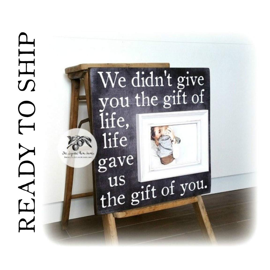 Gotcha Day - Adoption Gift - Personalized Wooden Picture Frame Child Keepsake Gift Custom Boys and Girls Adopt Adopted Present Photo Frame