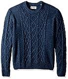 Original Penguin Men's Big Wool Alpaca Crew Sweater, Dark Sapphire, 3 XL-Extra Large/Tall