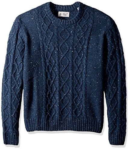Original Penguin Men's Big Wool Alpaca Crew Sweater, Dark Sapphire, 3 XL-Extra Large/Tall by Original Penguin