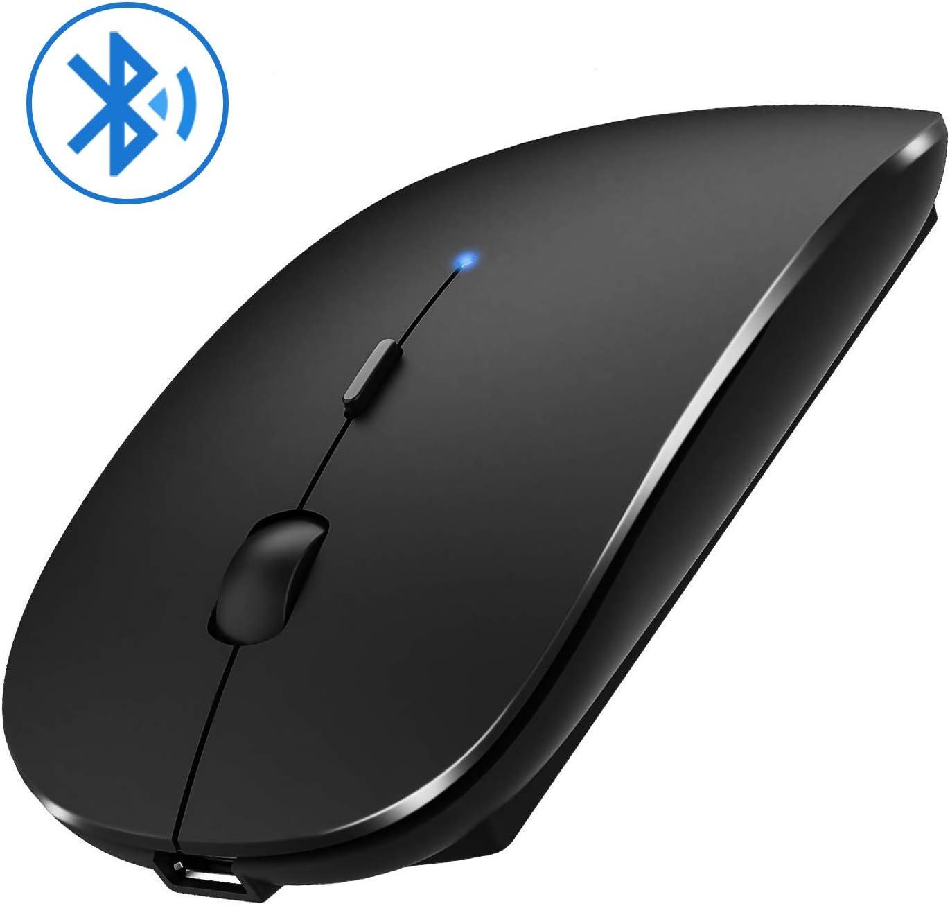 Jaybest Ratón Bluetooth, Ratón Bluetooth sin Receptor 3.0 Mini Ratón para Juegos para Computadora Portátil, PC, Computadora Portátil, Computadora con Sistema Operativo Windows/Android(Gris Negro)