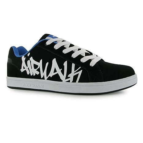 13cbd6b4e4 Airwalk Neptune Skate Shoes Mens Black Blue Casual Trainers Sneakers (UK8)  (EU42