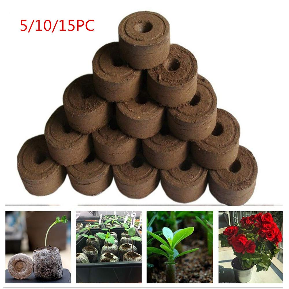 BBtime 30mm Pellets Seed Starting Plugs Pallet Seedling Soil Block Easy to Operate, Efficiency and Environmentally Friendly Planting and transplanting (A, Coffee)