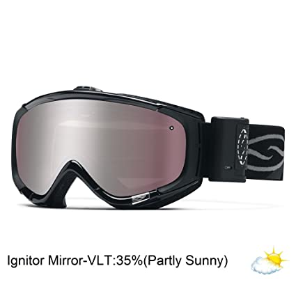 2d013542410 Smith Optics Phenom Turbo Fan Series Winter Sport Snowmobile Goggles  Eyewear - Black Ignitor